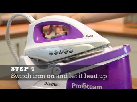 How to descale your Steam Generator Iron - Tips & Tricks - by Swan