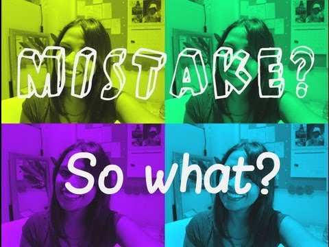 How to get over embarrassing mistakes quickly