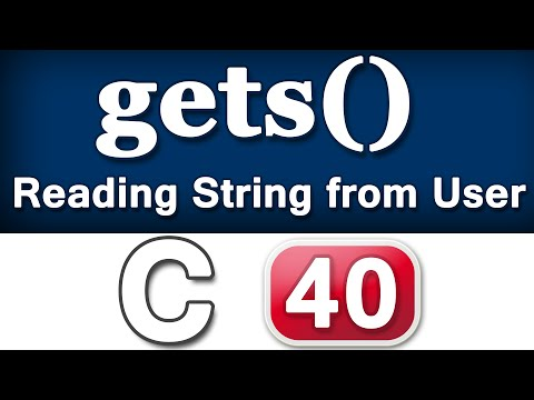 gets() String Input Function in C Programming Language Video Tutorial