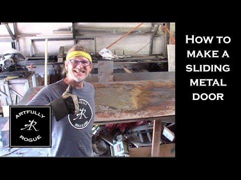 How to make a metal sliding door