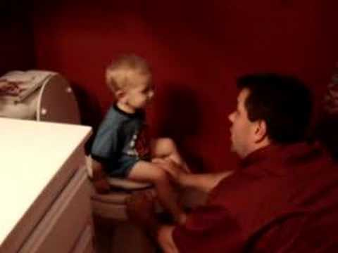 Max learning to use the potty