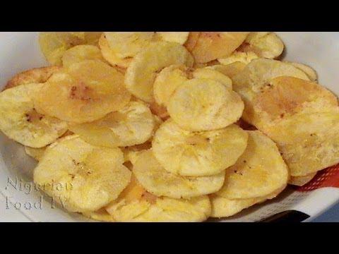 How to Make Plantain Chips (yellow banana chips/ sweet banana chips)