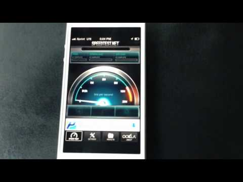 Sprint iPhone 5 4G LTE Speed Test
