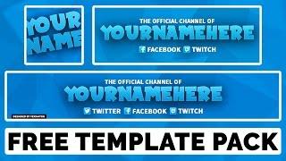 Free photoshop template gaming revamp pack youtube banner free photoshop template simple multi c maxwellsz