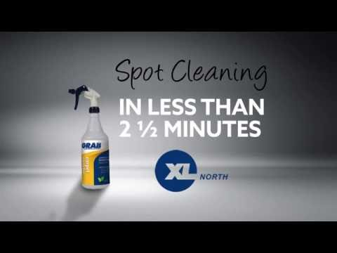 Spot Cleaning in Less than 2 1/2 Minutes with GRAB Carpet Spotter!
