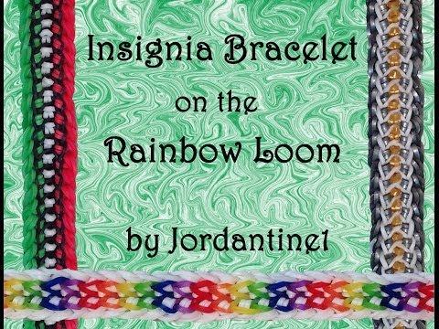 New Insignia Bracelet -Rainbow Loom, Crazy Loom, Bandaloom, Fun Loom