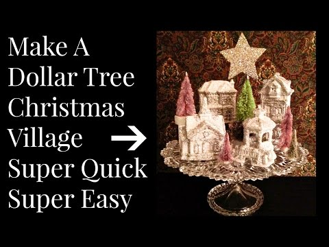 DOLLAR TREE Christmas Village DIY