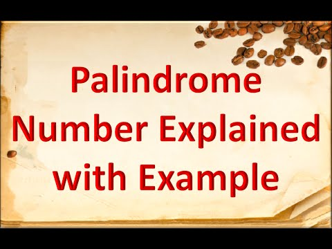 How to find palindrome number
