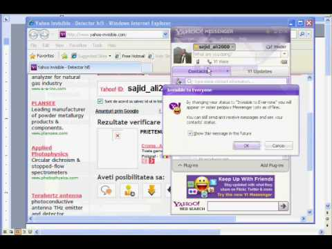 how to see if someone is invisible mod in yahoo msg