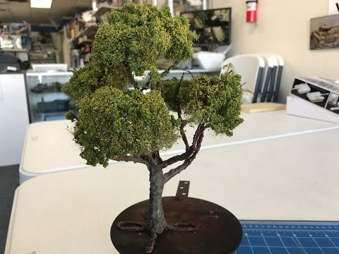 Building wire scale trees tutorial using Vallejo Earth texture for dioramas