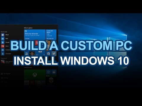 Building a custom PC -Installing Windows 10