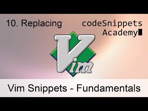 Vim Tutorial 10. Replacing text: r, R, ~ (tilde), c, C