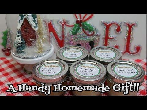 Homemade Sugar Scrub 5 ways ~ Gift In A Jar ~ How To Make Hand Scrub ~ Gift Ideas ~ Noreen's Kitchen