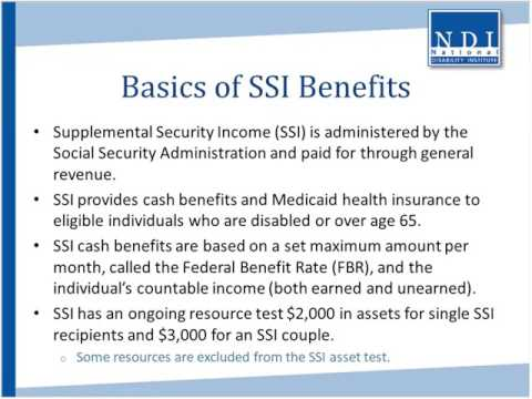 Supplemental Security Income SSI and SSI Work Incentives You Can Make an Informed Choice About Work