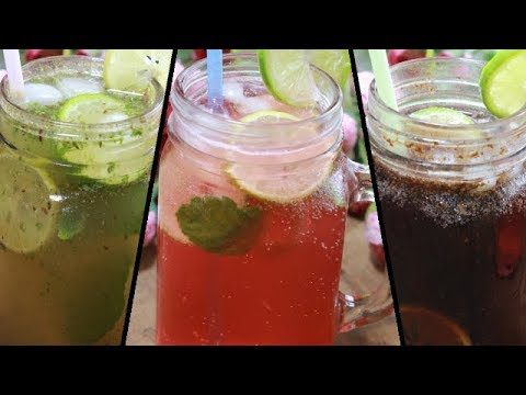 3 Type Of Easy Mocktail Recipe||শরবত রেসিপি||Masala Soda & Cola Recipe||Quick Summer Drink