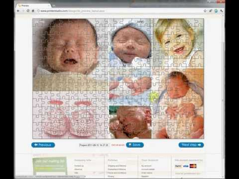 Making photo collage online with a puzzle collage maker