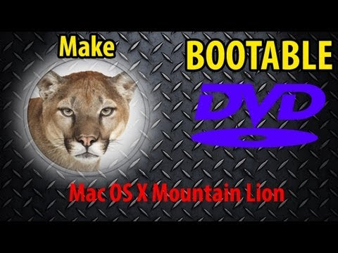 How to make a BOOTABLE DISC on Mac OS X Mountain Lion