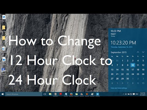 How to change 12 hour clock to 24 hour clock in Windows 10