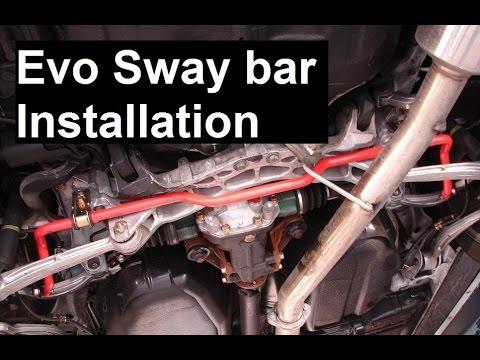 Evo 8 Rear Sway Bar Install