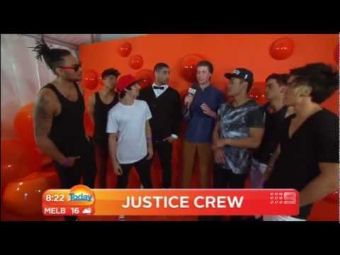 Justice Crew Dancing Gangnam style and talking about slimefest 16/9/12