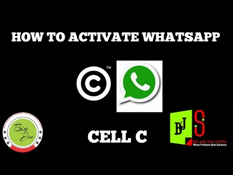 How to activate Whatsapp bundle on cell c network