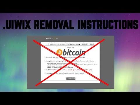 How to Remove .UIWIX Virus + File Restore 2017