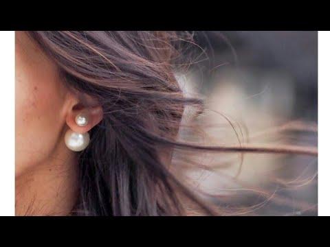 How To Make Double sided Pearl Earrings//Dior Earrings//Trendy Earrigs..!