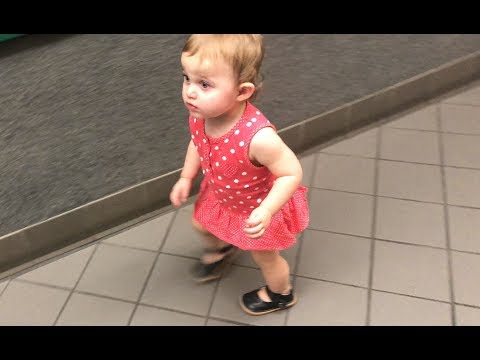 Baby Ayla squeaks down the hallway in her squeaky shoes!