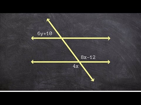 Vertical Angles, Supplementary Angles and Corresponding Angles Used to Solve for X