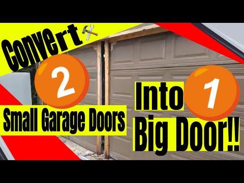 Converting 2 Small Garage Doors to 1 Big Garage Door
