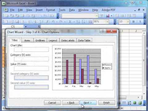 Charts in Microsoft Excel 2003