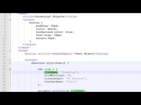 JavaScript Objects Tutorial