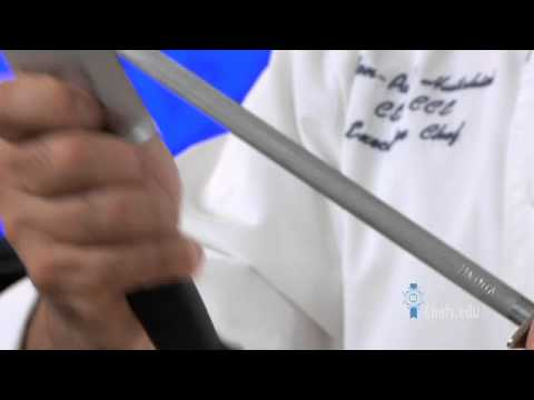 Learn how to sharpen a knife the correct way.