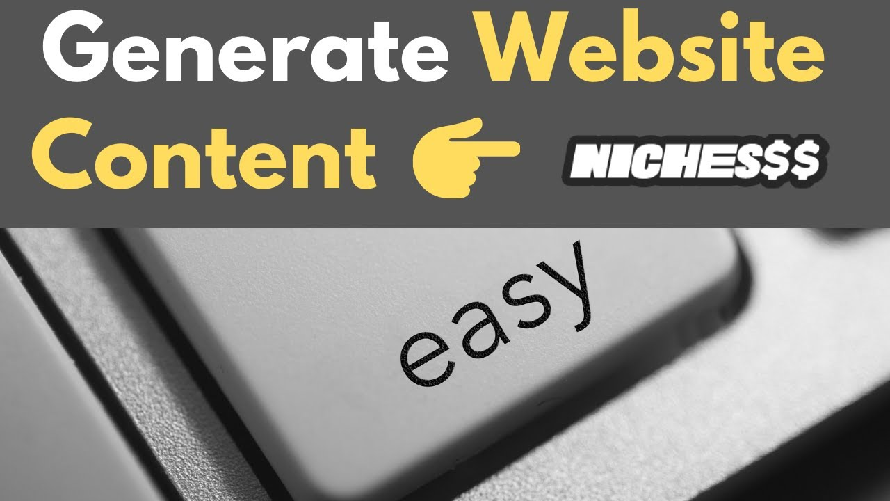 Generate Website Content With AI Using Nichesss [Frase.io + Niches$$ combo]