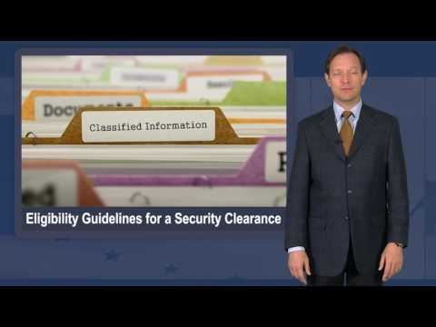 Eligibility Guidelines for a Security Clearance