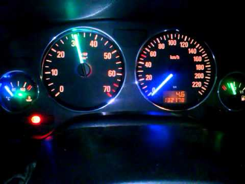 opel astra g dashboard led tacho speedometer change color
