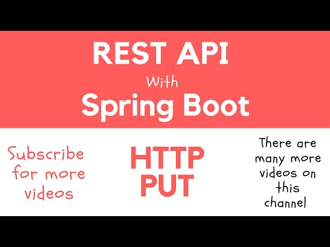 REST API with Spring Boot - @PutMapping and How to Handle HTTP PUT Request