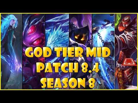 Best Mid Laners | God Tier | patch 8.4 Season 8 League of legends