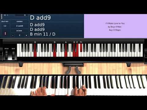I'll Make Love to You (by Boyz II Men) - Piano Tutorial