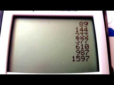 Fibonacci Sequence - TI 84 Programming