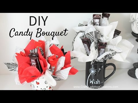 DIY Craft and Candy Bouquet Tutorial by Crafty Ladybug Creations