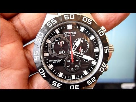 How To Set Time, Calendar, Chrono, Low Battery Signal on CITIZEN Eco-Drive Wrist Watch