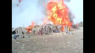 Pakistan Army burning villages in Occupied Balochistan