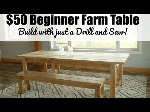 Beginner Farm Table Project Plans