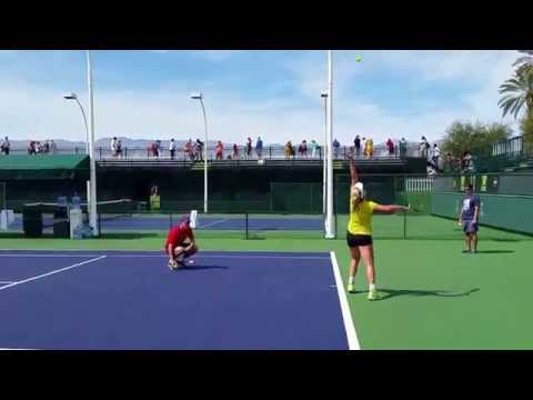 Coco Vandeweghe BNP Paribas Indian Wells Tennis Practice 2015