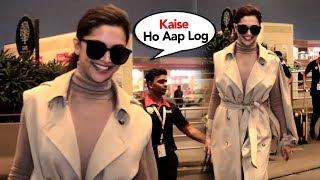 Deepika Padukone Sweet Gesture Toward Media At Mumbai Airport