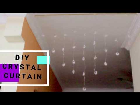 crystal glass beaded curtain,with danglers||DIY home decor