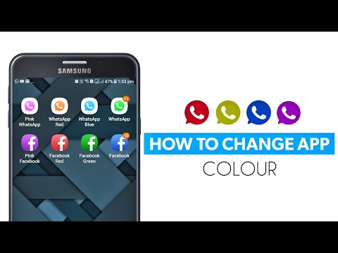 How to change app colour on Android (Hindi)