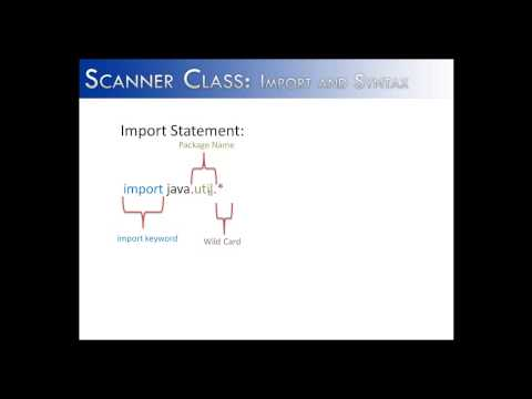 Scanner Class Part 1:  import and syntax (Java)