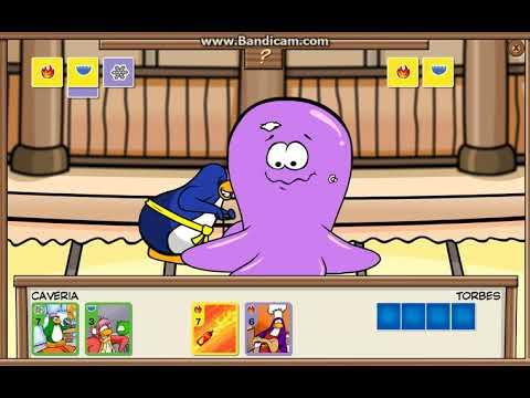 Club Penguin Rewritten Card Jitsu Yellow, Purple vs. Yellow Purple Part 1/4